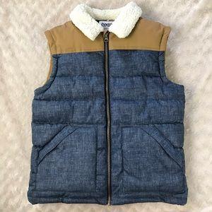 Gymboree Vest Boy's Size Large (10-12) Blue Tan